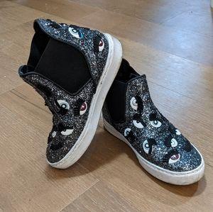 Chiara Ferragni Monster Eye High Top Shoes